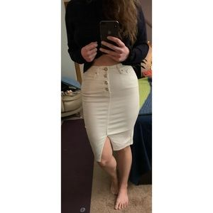 White Guess Pencil Skirt
